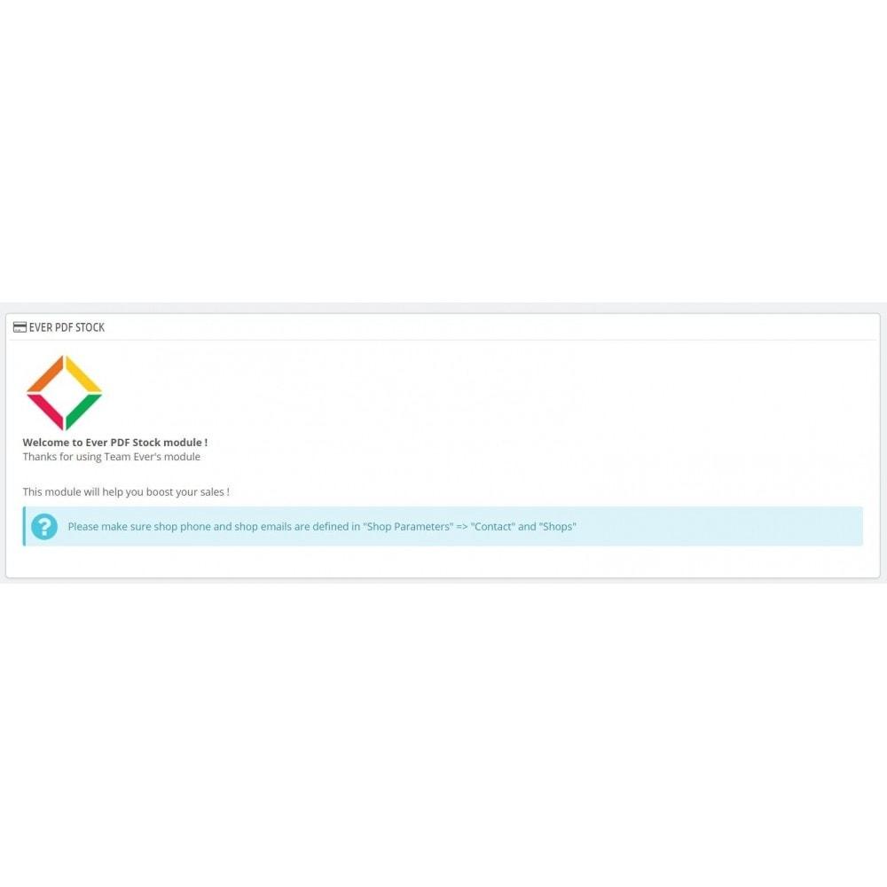 module - Administration - Export catalogue PDF - 2
