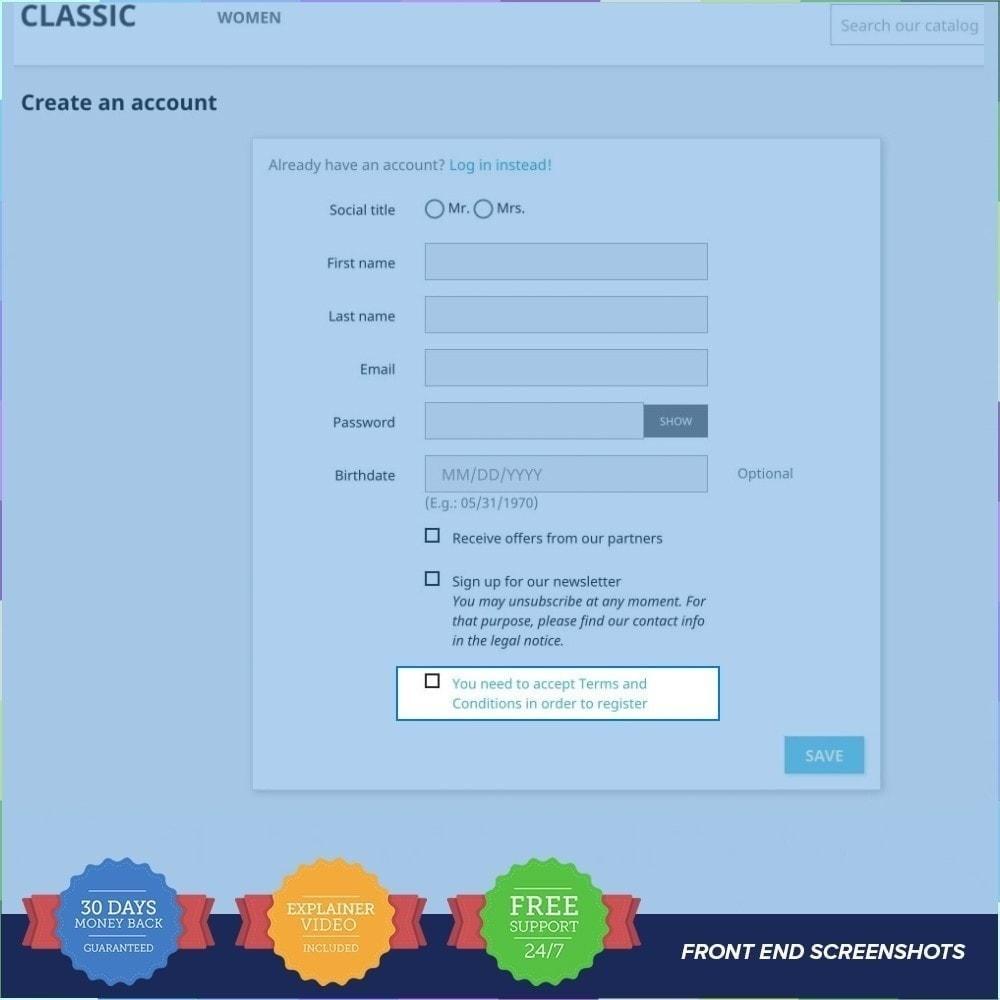 module - Inscription & Processus de commande - Termes et conditions obligatoires - 3