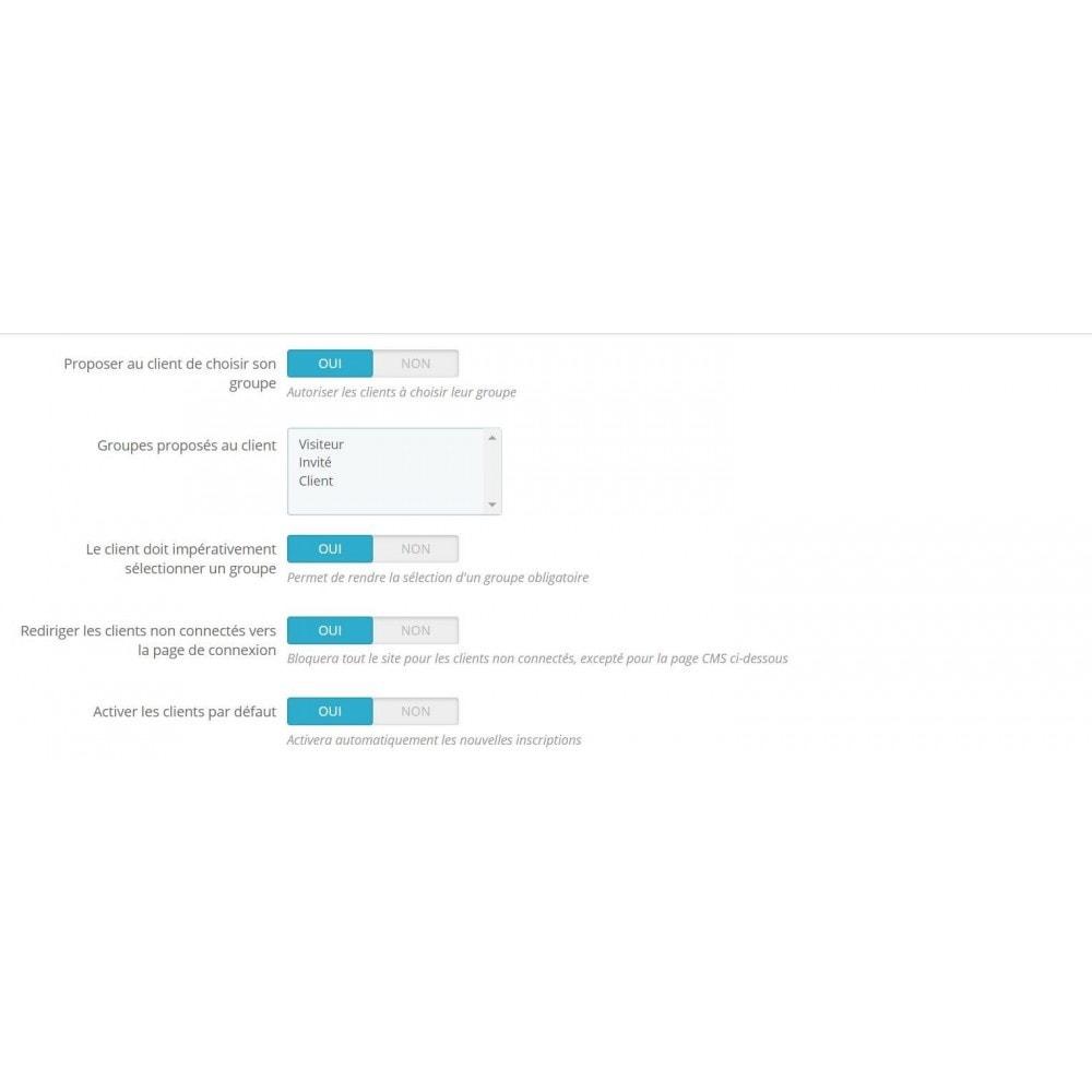 module - Управления учетными записями клиентов - Customer activation & private shop - 1