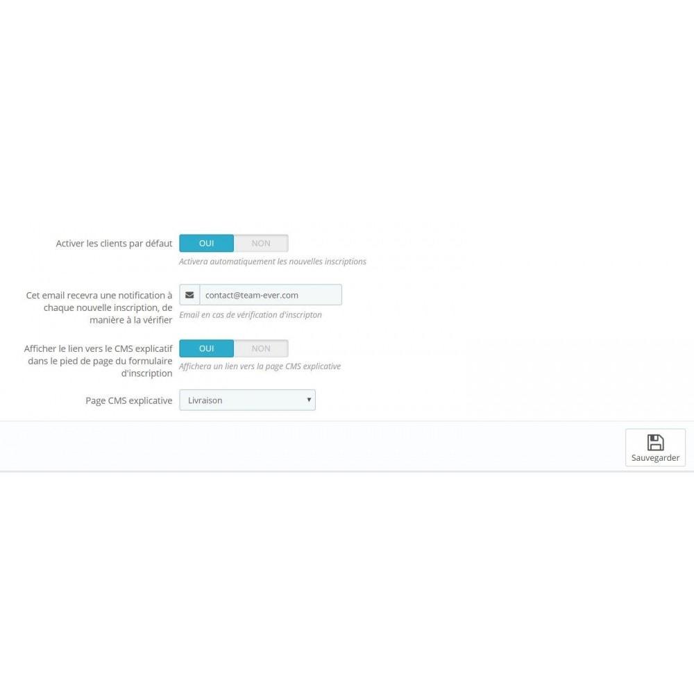 module - Управления учетными записями клиентов - Customer activation & private shop - 2
