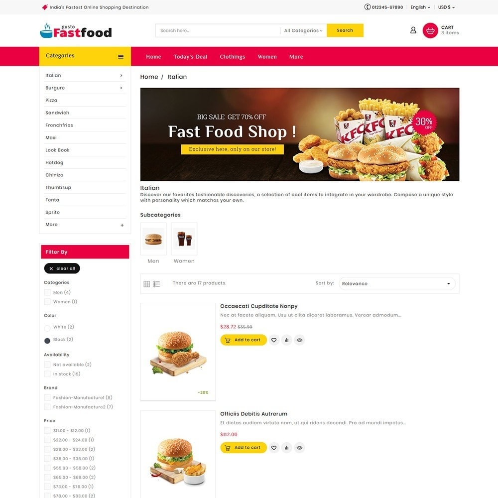 Fast Food Restaurant Combinations
