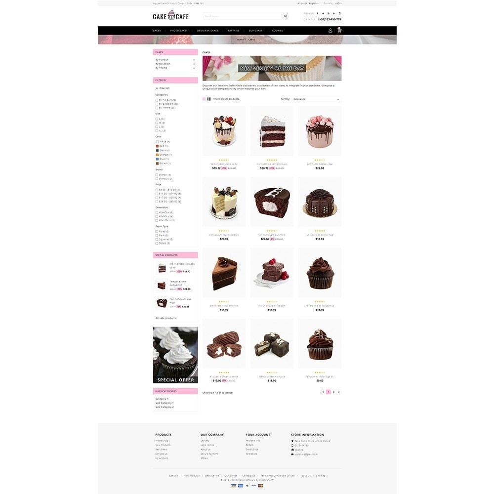 theme - Gastronomía y Restauración - Cake cafe Store - 3