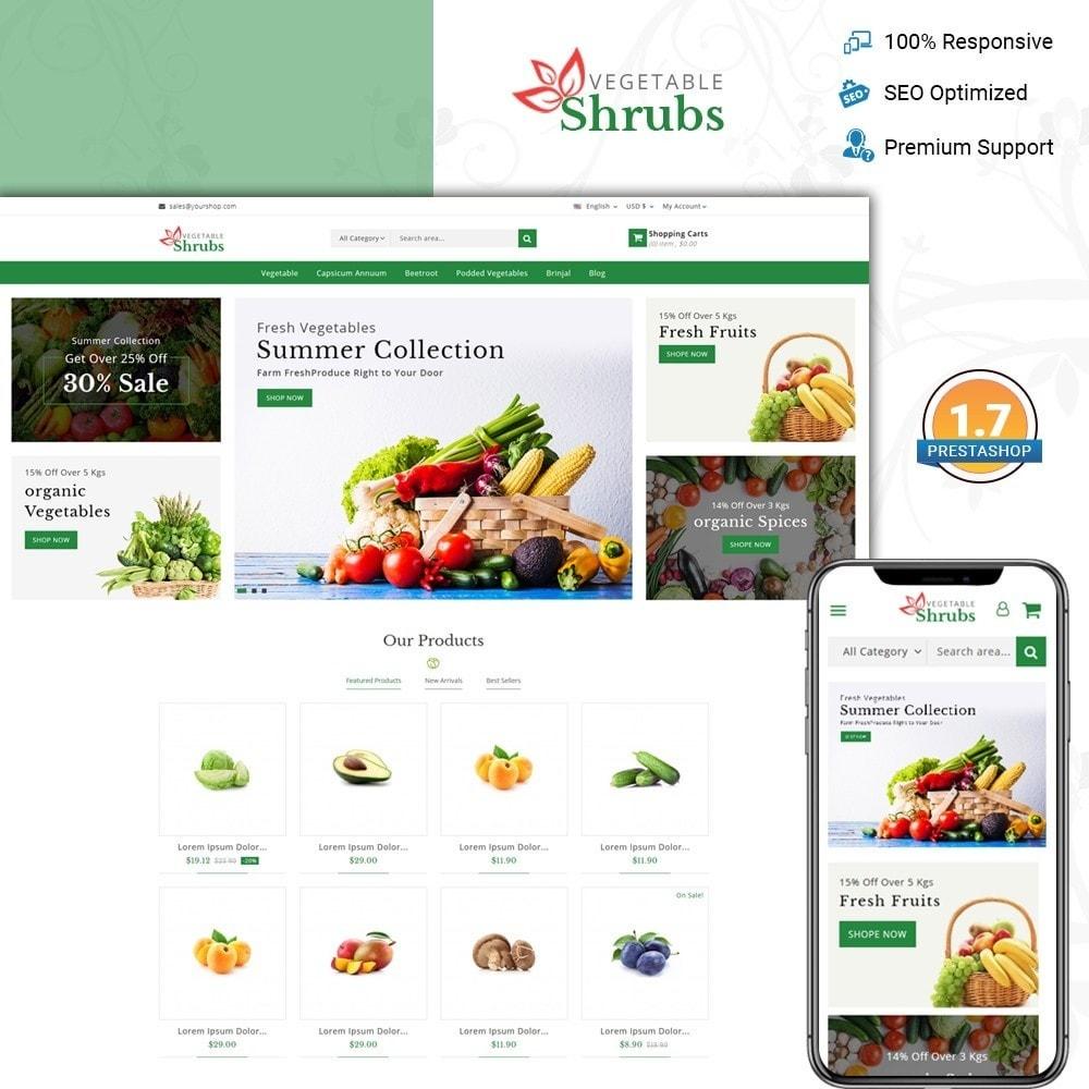 theme - Food & Restaurant - Vegetable Shrub - Organic Store - 1