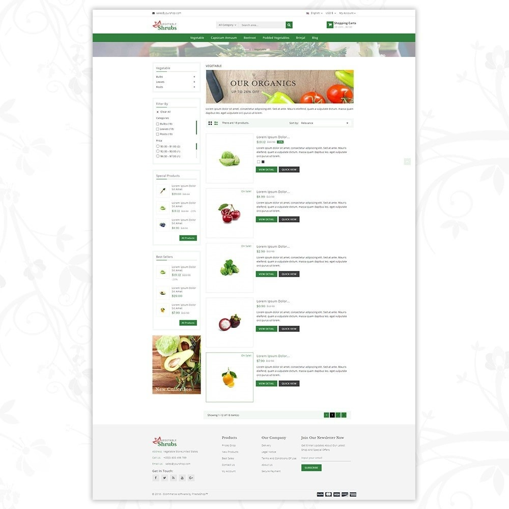 theme - Food & Restaurant - Vegetable Shrub - Organic Store - 4