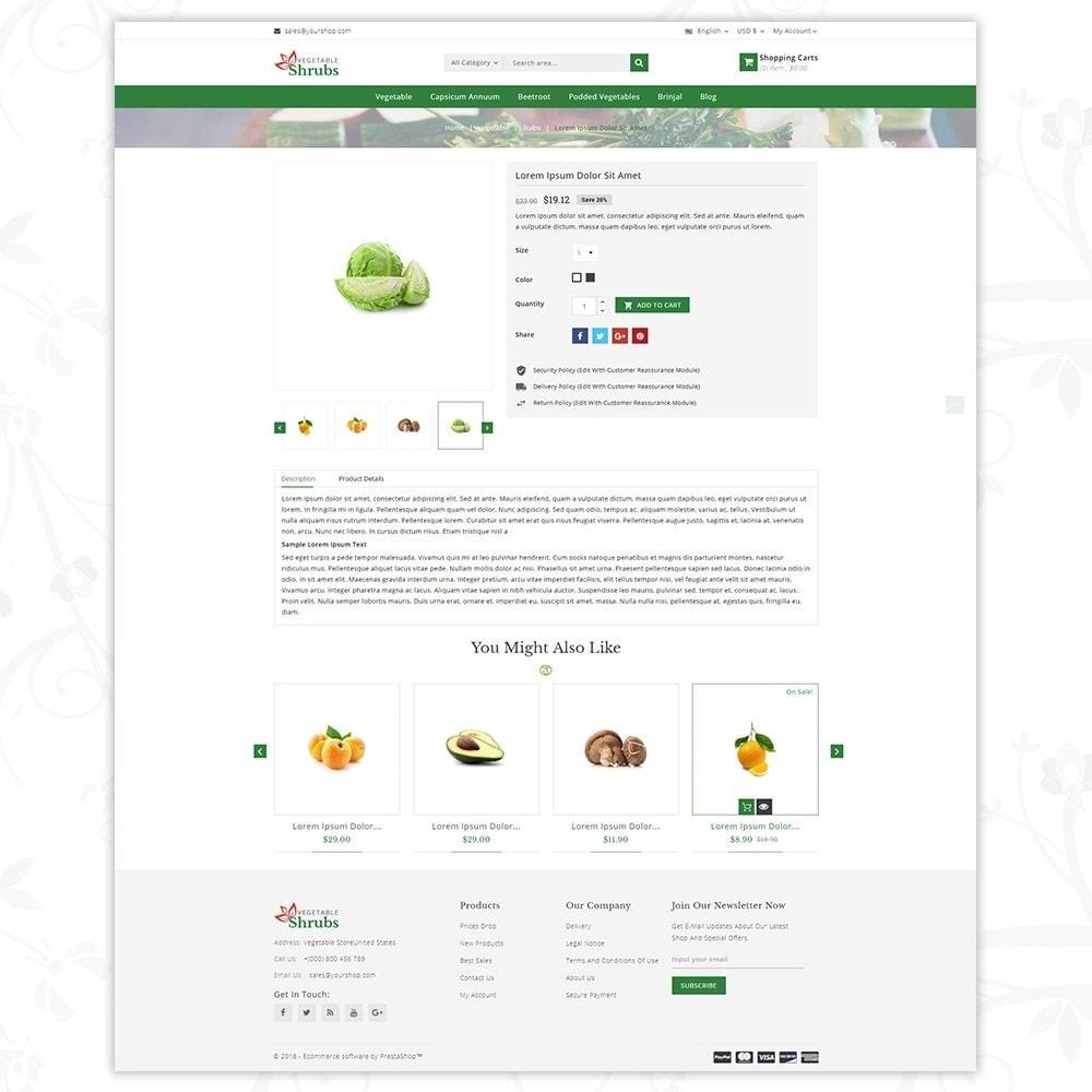 theme - Food & Restaurant - Vegetable Shrub - Organic Store - 5