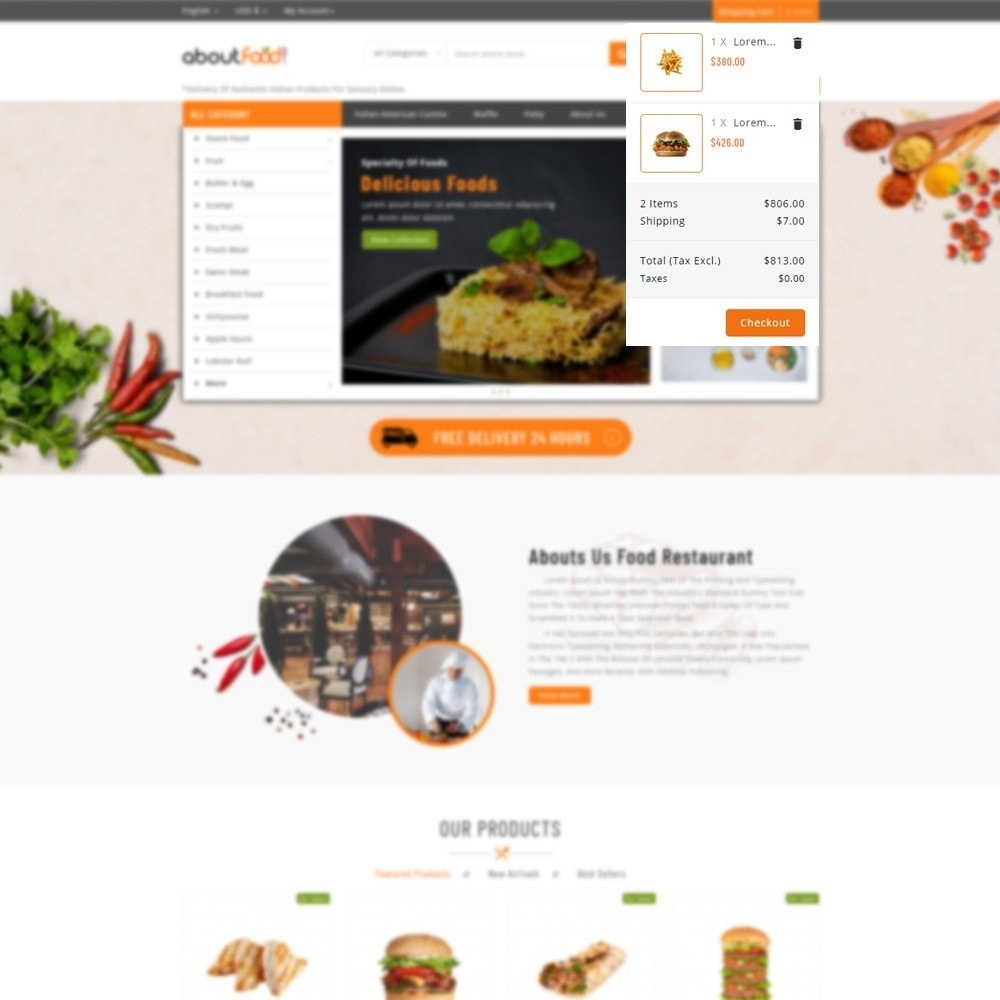 theme - Food & Restaurant - AboutFood - Food Store - 6