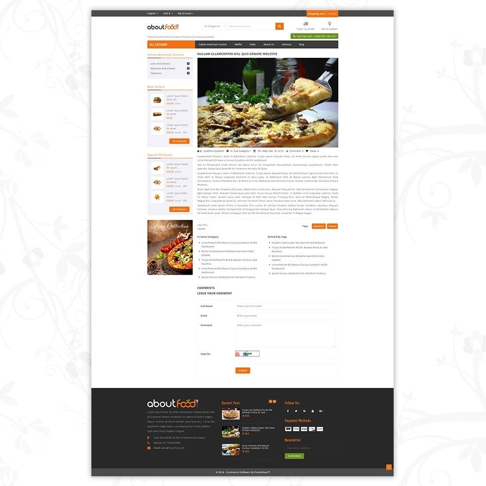 theme - Food & Restaurant - AboutFood - Food Store - 8