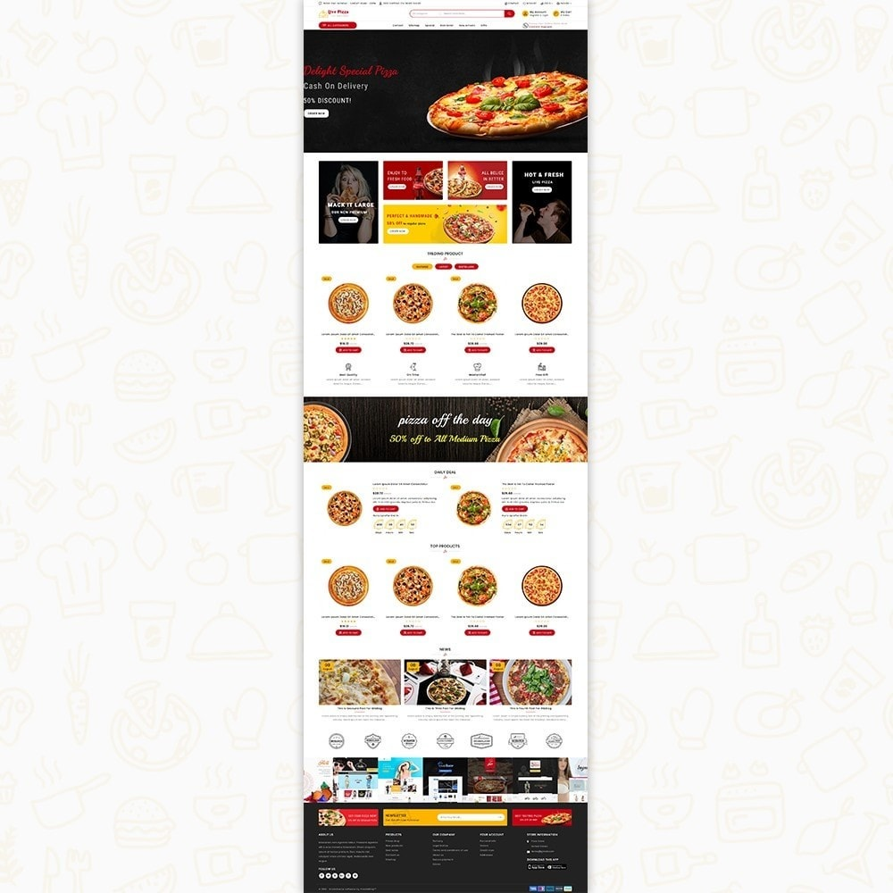 theme - Food & Restaurant - Live Pizza - Fast And Fresh - 2