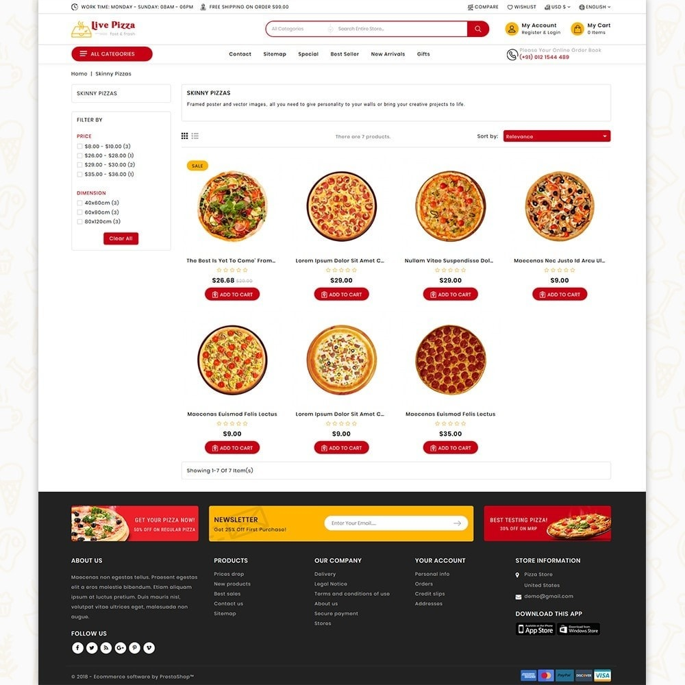 theme - Food & Restaurant - Live Pizza - Fast And Fresh - 3