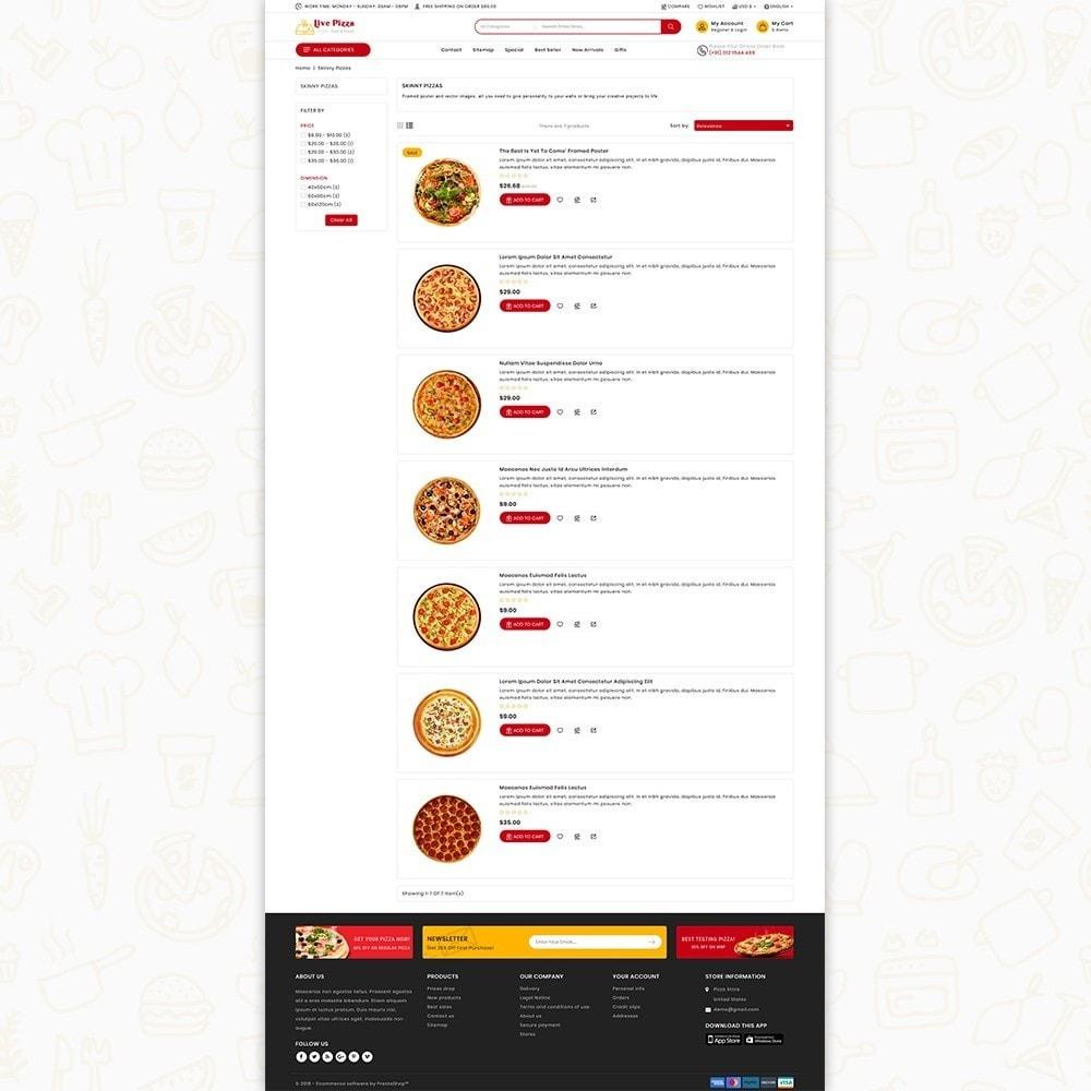 theme - Gastronomía y Restauración - Live Pizza - Fast And Fresh Restaurant - 5