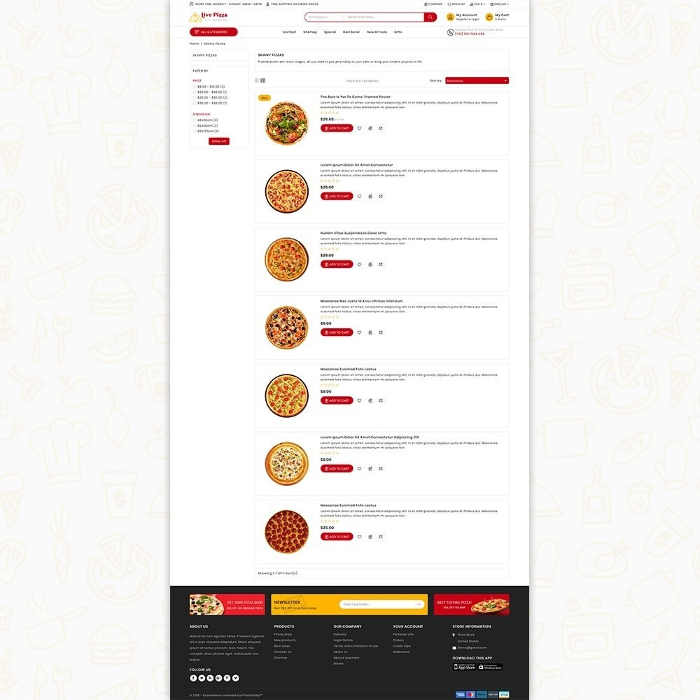 theme - Food & Restaurant - Live Pizza - Fast And Fresh - 4