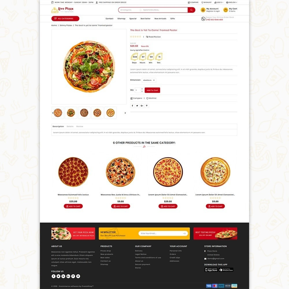 theme - Food & Restaurant - Live Pizza - Fast And Fresh - 5