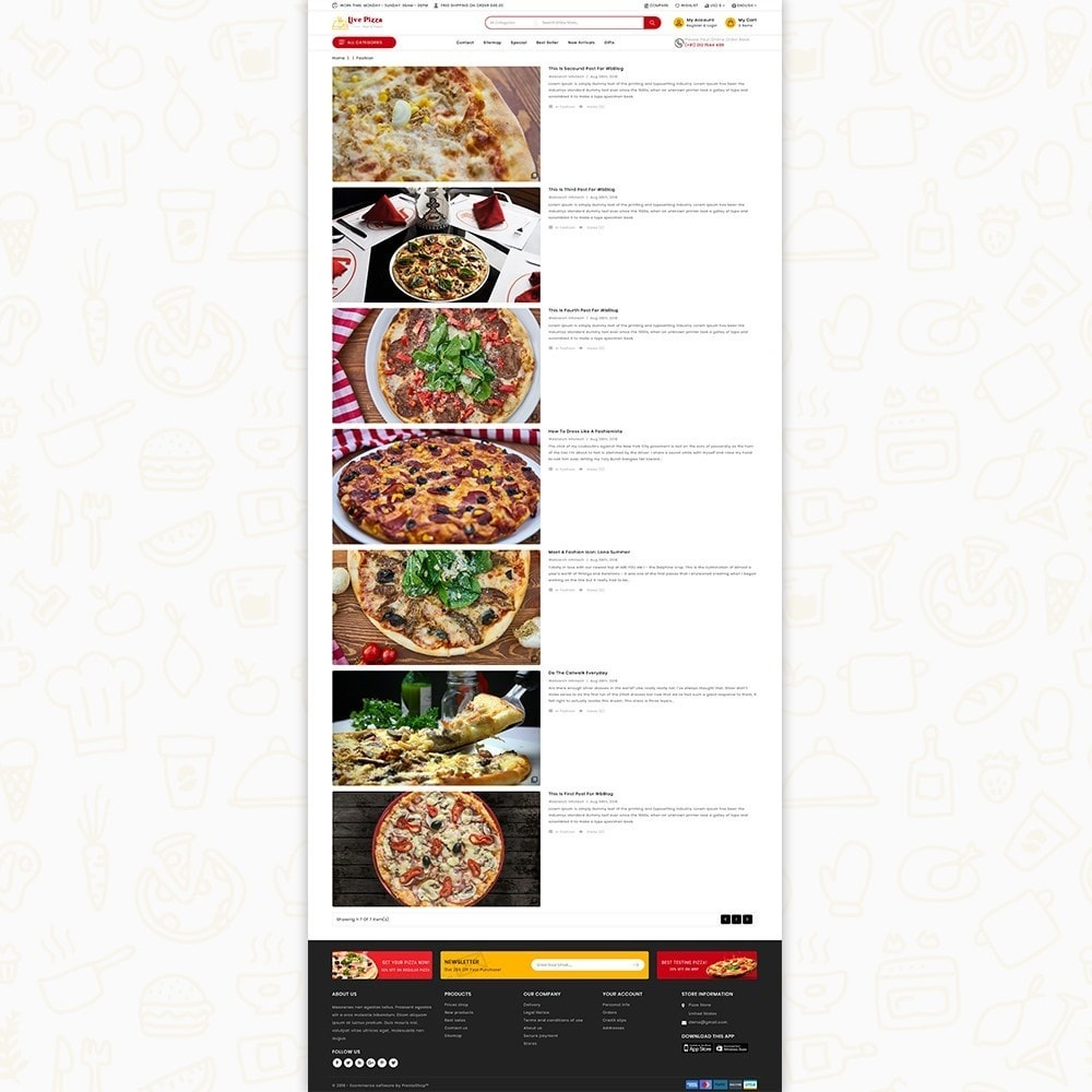 theme - Food & Restaurant - Live Pizza - Fast And Fresh - 6