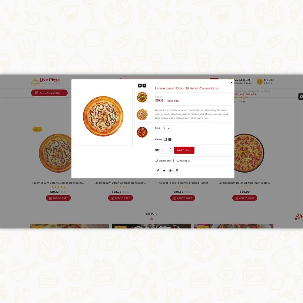 theme - Food & Restaurant - Live Pizza - Fast And Fresh - 7