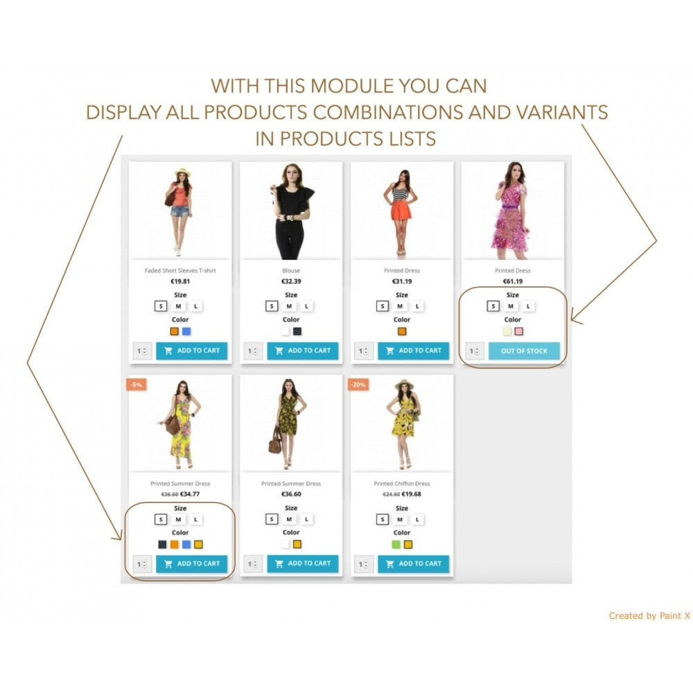 module - Combinaciones y Personalización de productos - Mostrar atributos de producto en la lista de productos - 1
