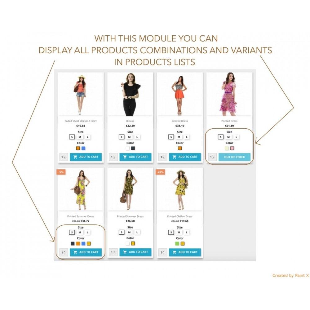 module - Combinazioni & Personalizzazione Prodotti - Gestire gli attributi dei prodotti dall'elenco prodotti - 1