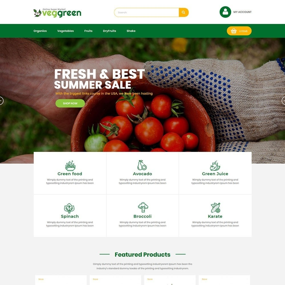 theme - Food & Restaurant - Veggreen Food Store - 2