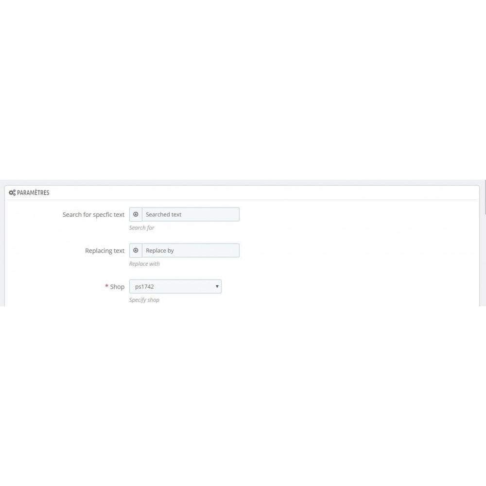 module - Ricerche & Filtri - Search and replace - 1