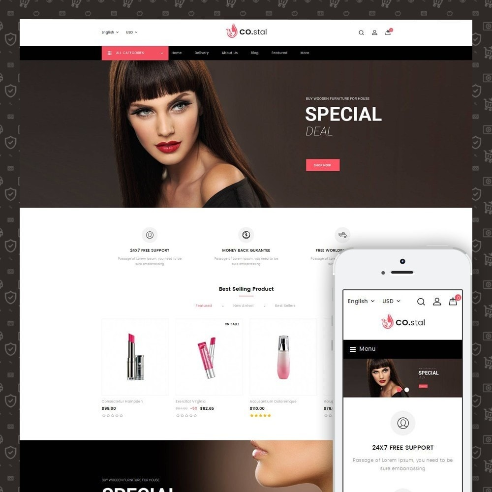 theme - Health & Beauty - Costal - Beauty Store - 1