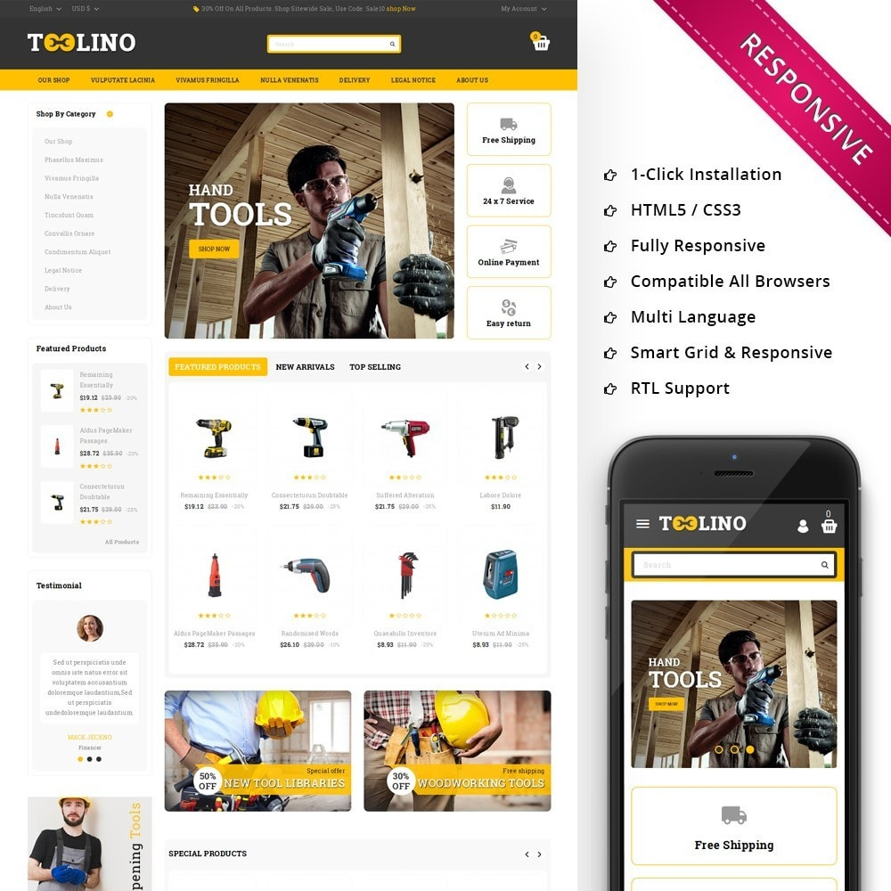 theme - Automotive & Cars - Tooline - The Tool Store - 1