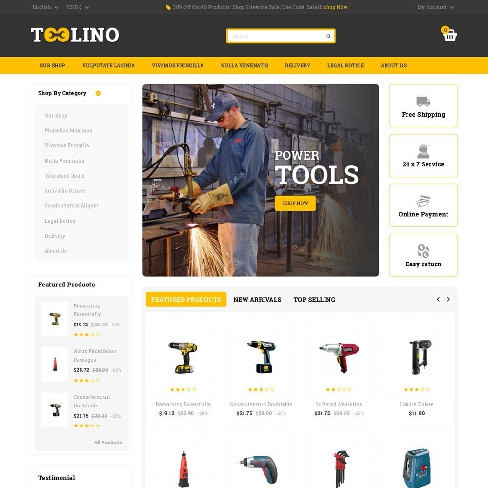 theme - Automotive & Cars - Tooline - The Tool Store - 2