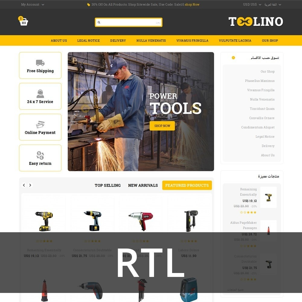 theme - Automotive & Cars - Tooline - The Tool Store - 3