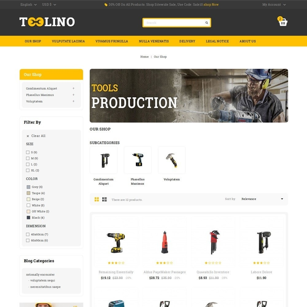 theme - Automotive & Cars - Tooline - The Tool Store - 4