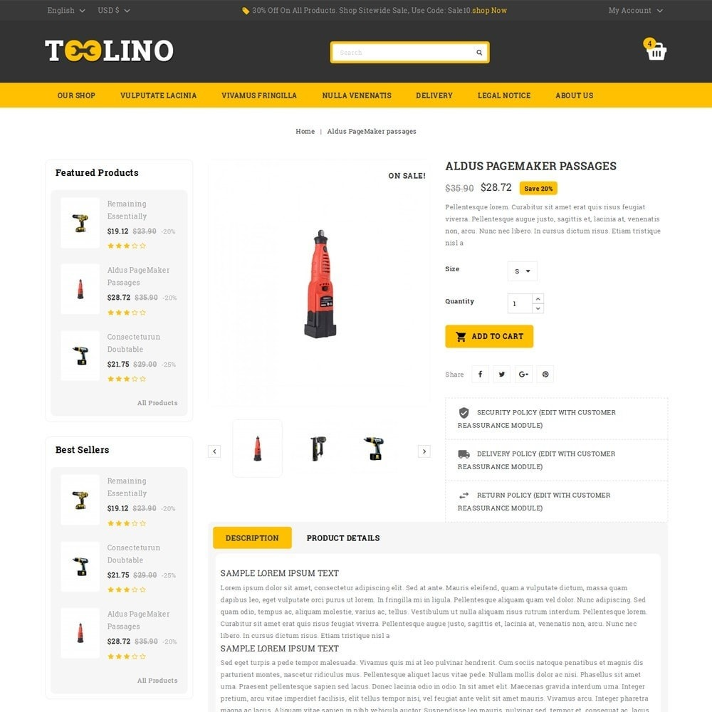 theme - Automotive & Cars - Tooline - The Tool Store - 6