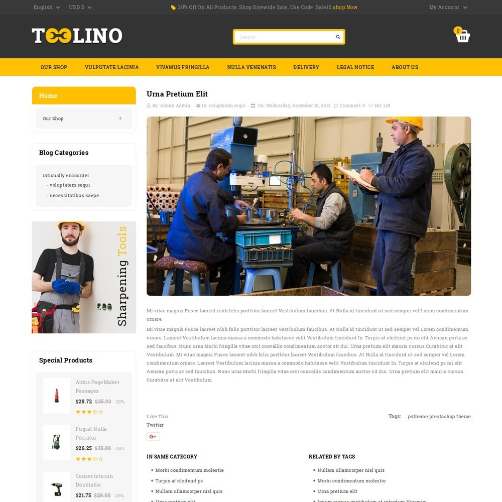 theme - Automotive & Cars - Tooline - The Tool Store - 7