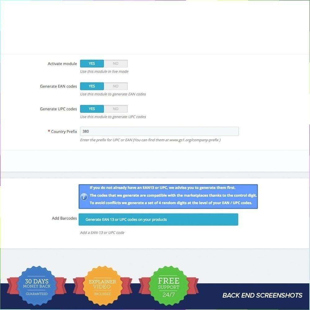 module - Gestión de Stock y de Proveedores - Generador de códigos PRO - EAN - UPC - 3