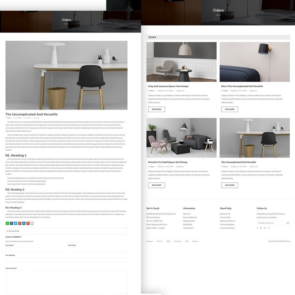theme - Home & Garden - Odern - Furniture Store - 5
