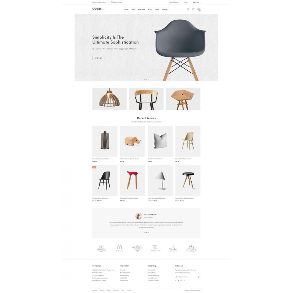 theme - Home & Garden - Odern - Furniture Store - 6
