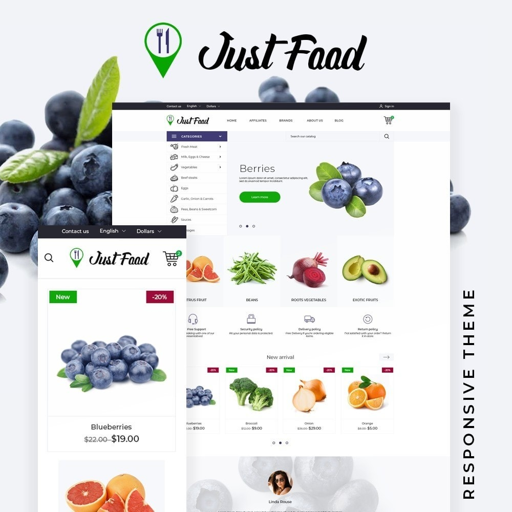 theme - Food & Restaurant - JustFood - 1