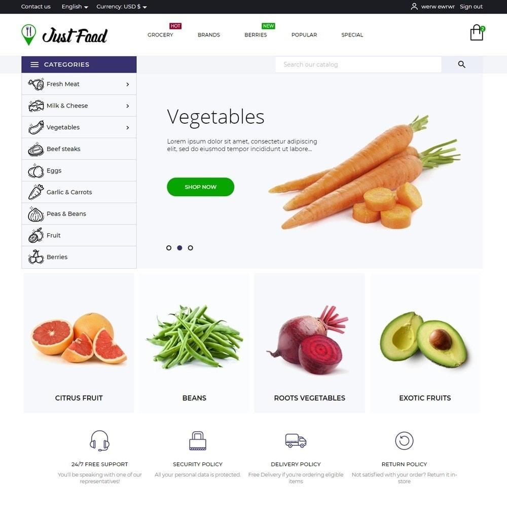 theme - Food & Restaurant - JustFood - 2