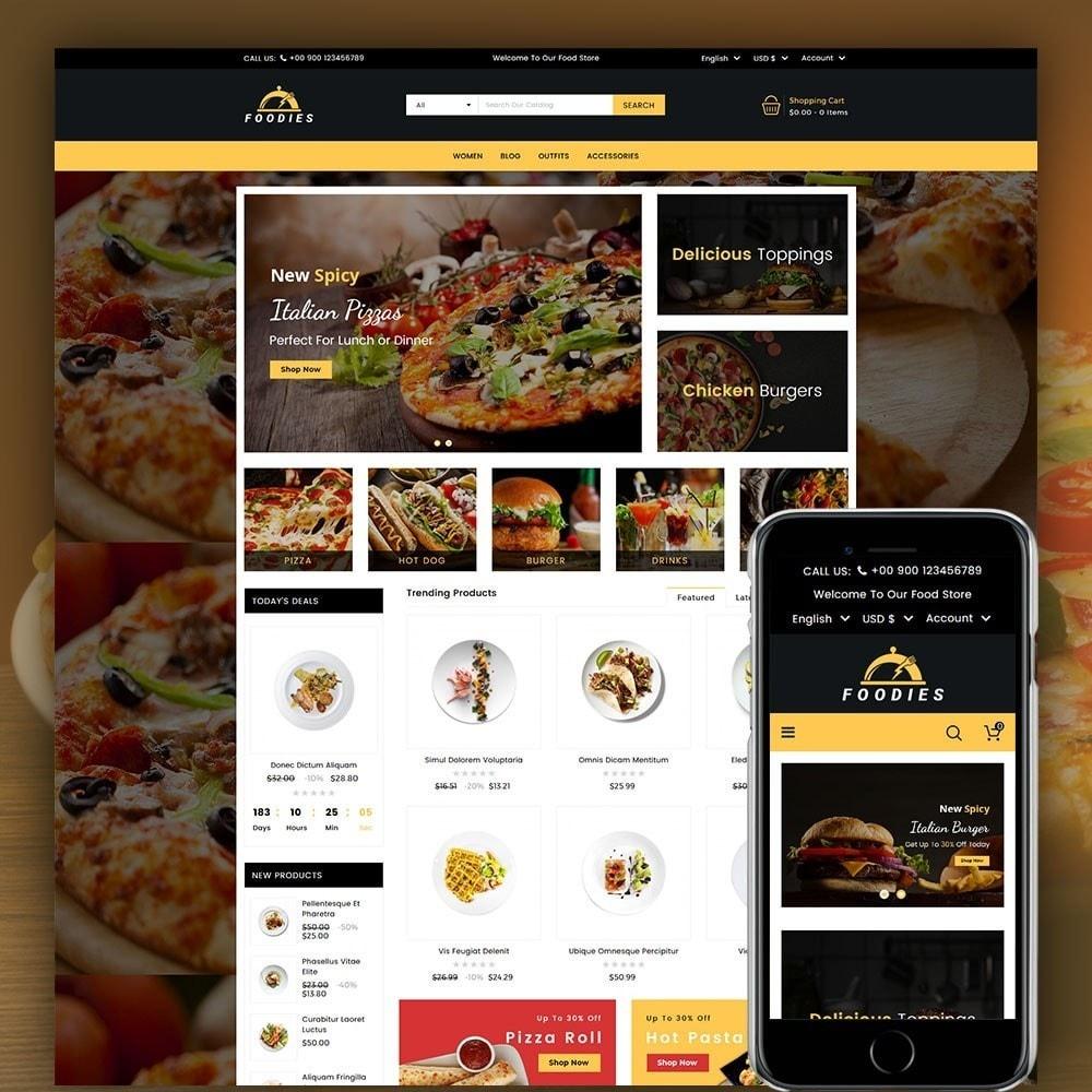 theme - Cibo & Ristorazione - Foodies Food Store - 1