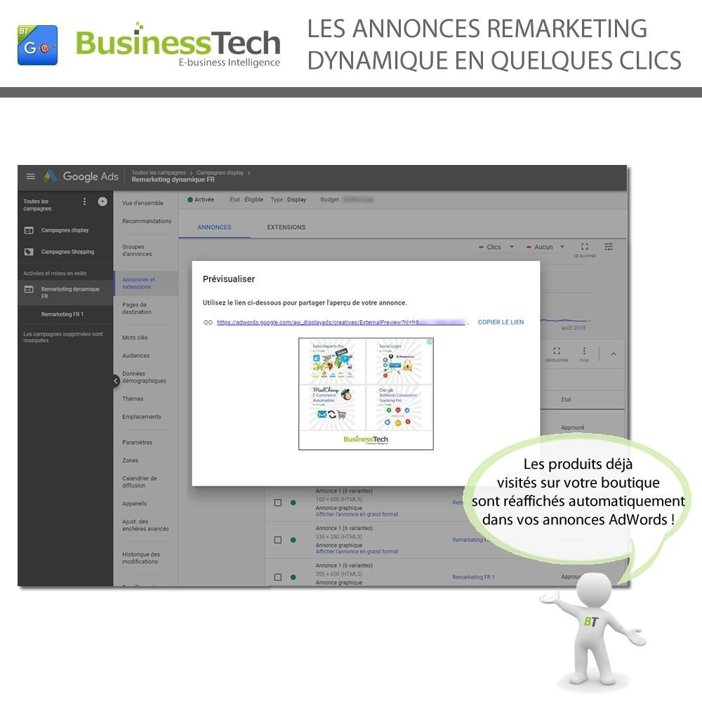 module - Remarketing & Paniers Abandonnés - Google Dynamic Remarketing - Balise Google-Ads - 4