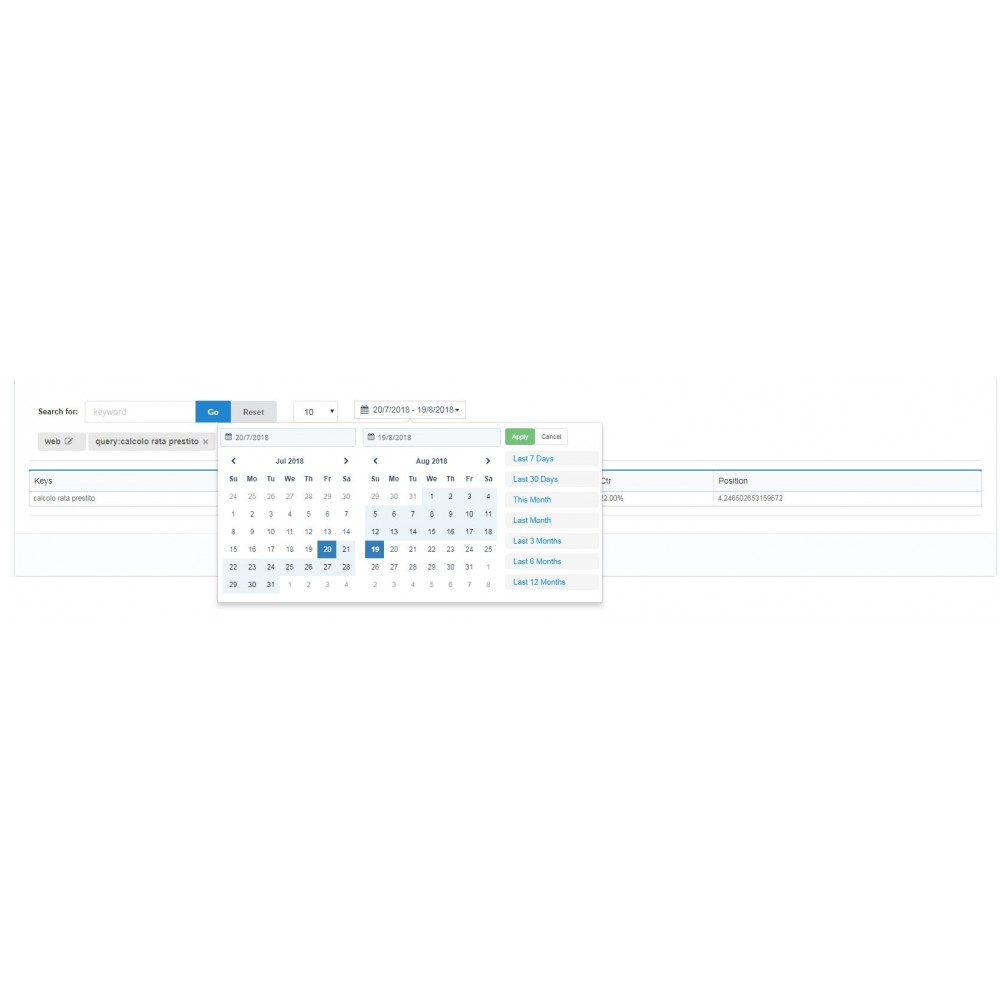module - Análises & Estatísticas - Search Console Analytics - 1