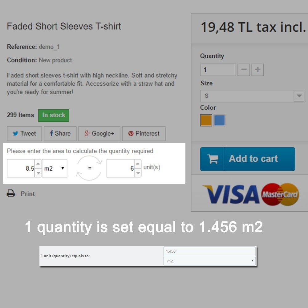 module - Tailles & Dimensions - Area to Quantity Conversion Calculator on Product Tabs - 3