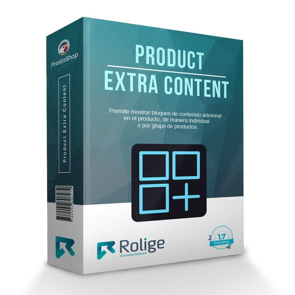 module - Informaciones adicionales y Pestañas - Contenido Extra del Producto - 1