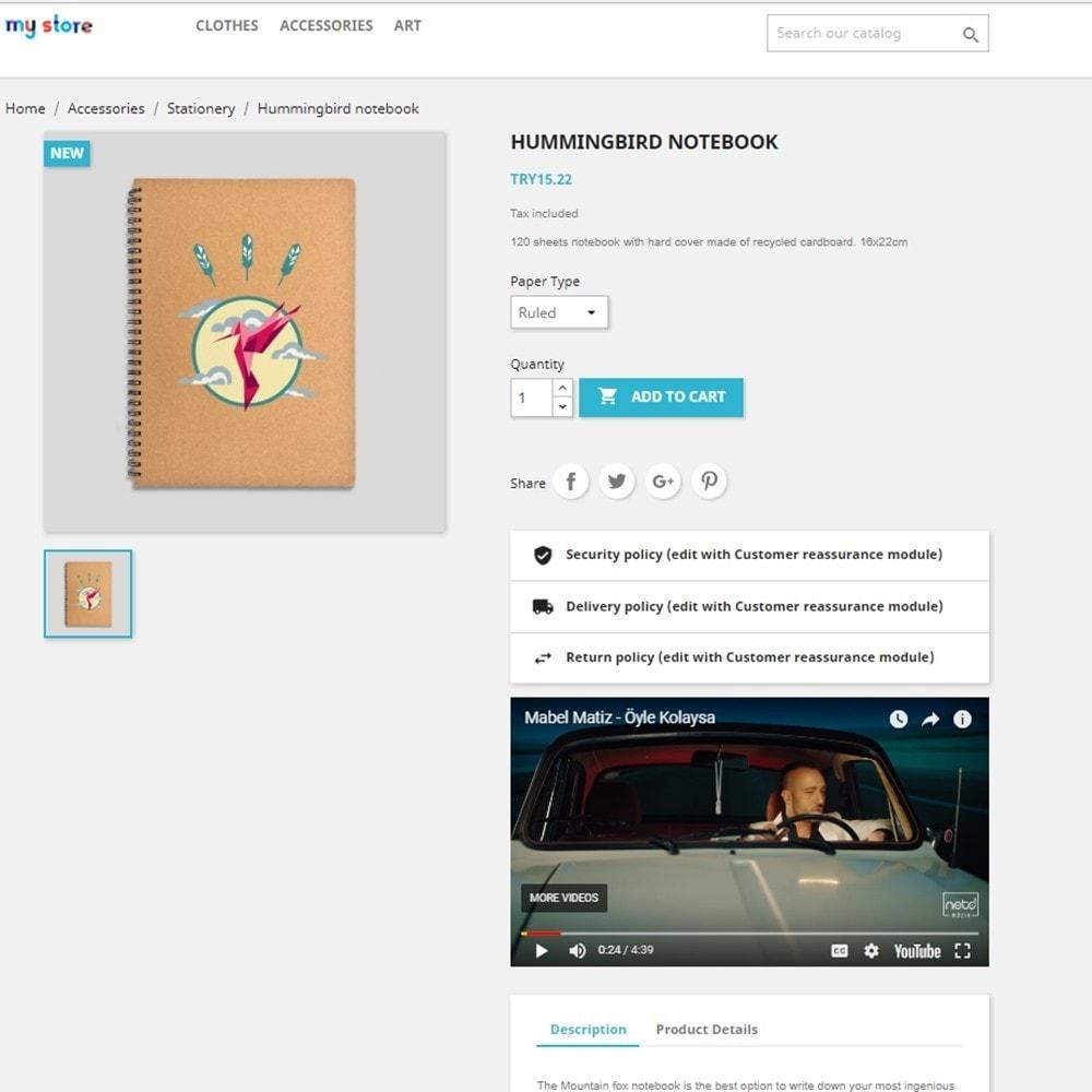 module - Videos & Music - Product Media and Audio (Youtube / Audio / Custom HTML) - 7
