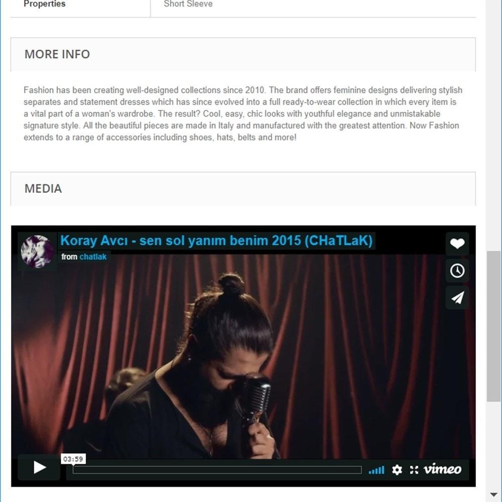 module - Videos & Music - Product Media and Audio (Youtube / Audio / Custom HTML) - 10