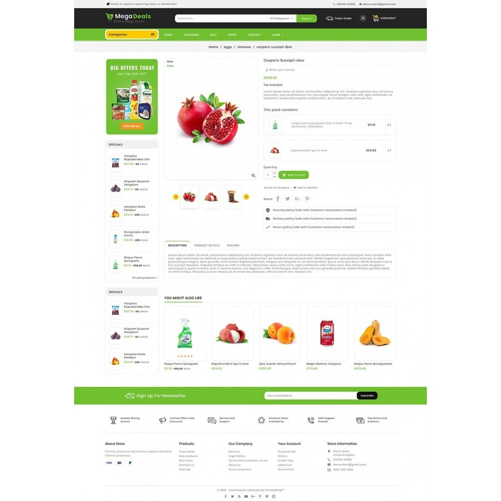 theme - Food & Restaurant - Mega Deals Organic Grocery - 6