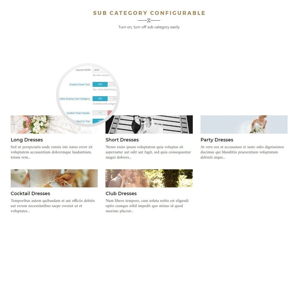 theme - Fashion & Shoes - Maggie Store - Wedding Dress & Fashion Store - 6