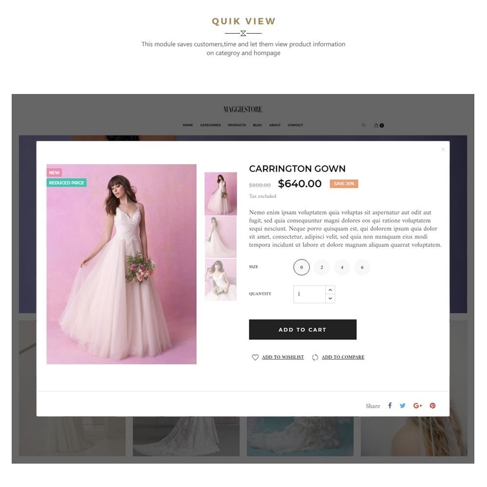 theme - Fashion & Shoes - Maggie Store - Wedding Dress & Fashion Store - 10