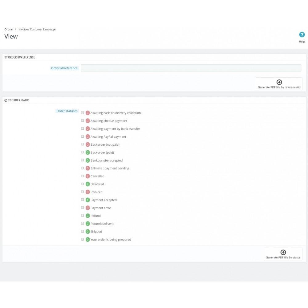 module - Klantendienst - Invoices in Customers Language - 1