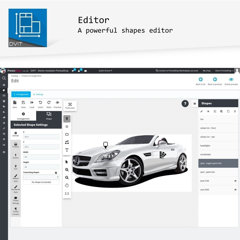 module - Personalisering van pagina's - Product Arrangement - 2