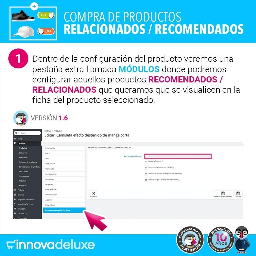 module - Ventas cruzadas y Packs de productos - Productos sugeridos para compra impulsiva - 3