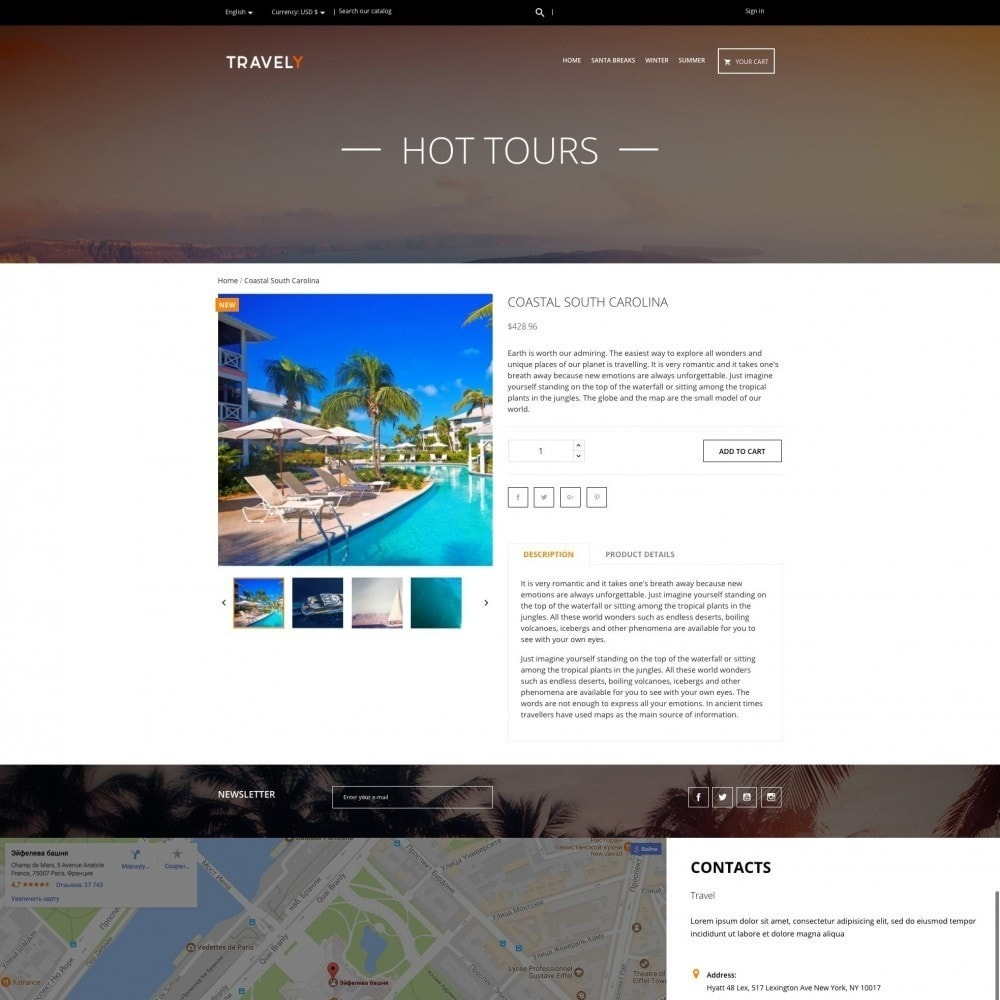 theme - Спорт и Путешествия - Travely - Туристическое агенство - 4