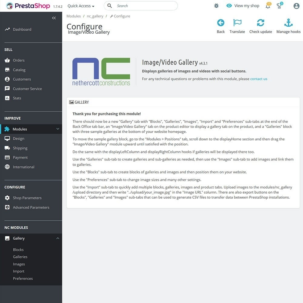 module - Slider & Gallerie - Image/Video Gallery - 7