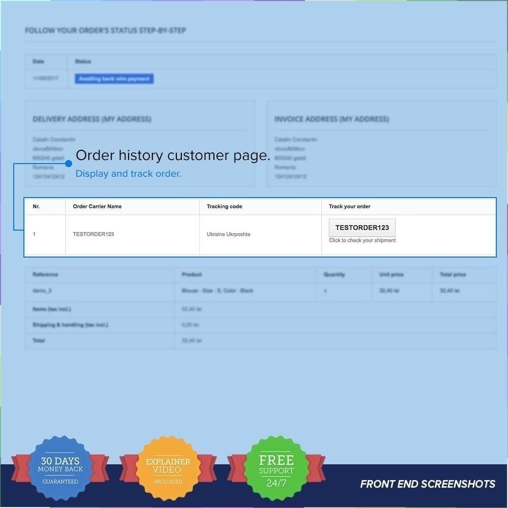 module - Seguimiento de la entrega - LIVE Shipping/Order Tracking Multiple Carriers - 4
